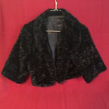 Two's Company ~ Faux Fur Black Bolero Jacket ~ 2 Sizes ~ NEW ~ Free Shipping!