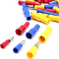 Kabelverbinder rot blau gelb Rundstecker Rundsteckhülsen 0,5 - 6 mm² Kabelschuhe