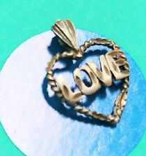 N25 Love In Heart Sterling Silver Vintage Bracelet Charm