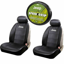 Jeep Logo Sideless Seat Covers Steering Wheel Universal Set Suv Truck