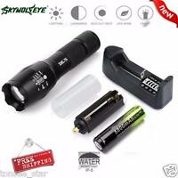 SKYWOLFEYE X800 4000Lumen XM-L T6 taktische Taschenlampe LED Zoom Militär Fackel