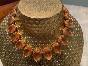 Authentic J.Crew Teardrop Shaped Crystal Necklace NWT orig.$148