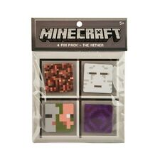 Minecraft Nether 4 Button Pin Pack
