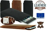 SLIM SLEEVE MADE OF GENUINE LEATHER POCKET CASE COVER SLEEVE POUCH FOR IPHONE