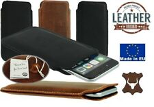 SLIM POCKET CASE COVER MADE OF GENUINE LEATHER SLEEVE POUCH FOR APPLE IPHONE