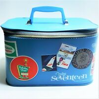 1964 Miss Seventeen TWA Hotel Stewardess Travel Luggage Train Case Bag Airlines