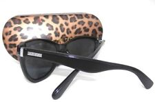 NEW women's GUESS GF0296 black  cat eye sunglasses + case