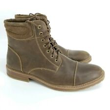 Mens Fashion Captoe Brown Leather 6 Inch 7 Eyelet Boots US Size 13 Excellent Con