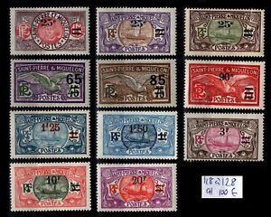 St Pierre & Miquelon : Série 118 à 128, Neufs * = Cote 100 € / Timbres DOM-TOM