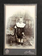 Victorian Cabinet Card: Child Unusual Facial Expression Learning Difficulty's?