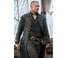 Pirate Captain Flint Black Sails S3 Leather Costume Coat