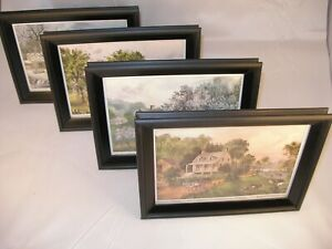 Four  Currier and Ives Prints:American Homestead:Spring, Summer, Autumn, Winter