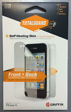 Griffin GB03559 TotalGuard Screen Front + Back Scratch Protector for iPhone 4/4S