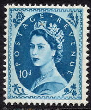 QEII 1960 - 67 10d Prussian Blue Wilding Phosphor Definitive Issue SG 617d S133