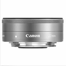 Canon M EF-M 22mm F/2 STM Wide Angel Pancake LENS -Silver (Bulk Package)