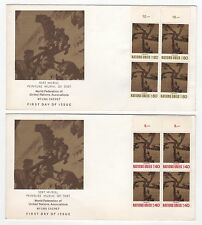 Nations - Unies 2 FDC enveloppes timbres 1er jour /FDC117