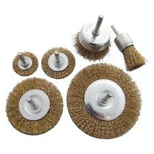 6pc Amtech Rotary Wire Wheel Cup Brush Drill Set Rust Paint Remover 6mm Shanks