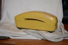 Vintage Western Electric Trimline Desk Phone Push Button Yellow
