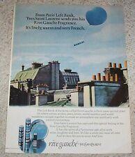 1976 print ad - YSL Yves Saint Laurent RIVE GAUCHE perfume advertising ADVERT