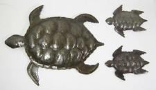 Haitian Recycled Metal Steel Drum Wall Art Sea Turtles Set of 3