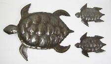 Haitian Recycled Metal Steel Drum Wall Art Sea Turtles Set of 3