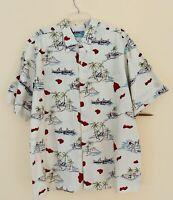 REYN SPOONER Short Sleeve Hawaiian Island Volcano Shirt  3XL XXXL New No Tags