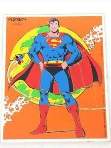 Vintage PlaySkool 1981 Superman Puzzle 18 Pc. DC Comics INC Made in USA