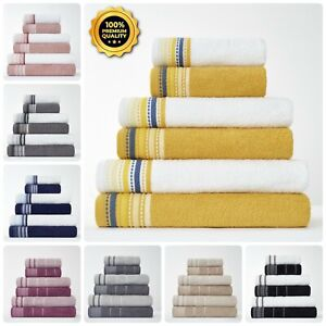 100% EGYPTIAN COTTON TOWEL EMBROIDERY HAND BATH TOWEL BATH SHEET SOFT ABSORBENT