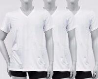 New Calvin Klein Men's 3-Pack 100% Cotton V- Neck Classic Fit T-shirt