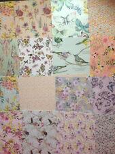 Confezione da 16 fogli di degustazione fiori di carta 6 x 6 Card Making Scrapbooking Craft Carta