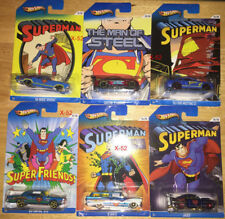 SUPERMAN diecast Car HOT WHEELS set of 6 lot DC UNIVERSE kroger man of steel toy