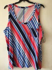 a.n.a ANA Navy Red Pink Blue Plus Size 3x Blouse Summer Top Tee T shirt New $22