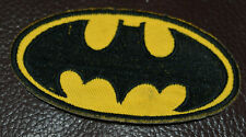 IRON-ON or SEW-ON BATMAN PATCH - black & yellow