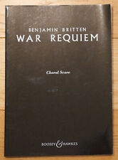Britten War Requiem SATB choral score sheet music Boosey & Hawkes edition