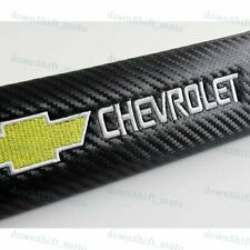 NEW 2PCS Carbon Look Seat Belt Cover Shoulder Pads for Chevy Chevrolet Silverado