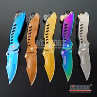 """6 5/8"""" EMERGENCY SURVIVAL TANTO POCKET KNIFE W/ SEAT BELT CUTTER & GLASS BREAKER"""