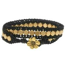 Honeycomb Double Wrapped Loom Bracelet - Black/Gold - Beadaholique Jewelry Kit