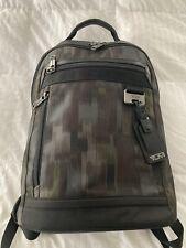 Tumi Laptop Nylon Backpack BookBag Bag Black & Green