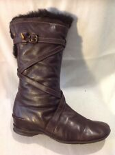 Hispanitas Brown Mid Calf Leather Boots Size 40