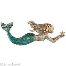 "Mermaid Resin Wall Decor Large 20"" +, Nautical Shabby Chic Decor!"