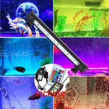 Aquarium LED Bar Light Waterproof Fish Tank Strip Light Lamp 23CM + Thermometer