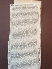 B6a Ephemera 1896 Article Li Hung Chang In England James Hart