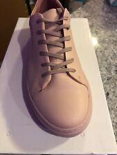 Men's Dusty Pink Leather Frank + Oak Sneakers US size 10