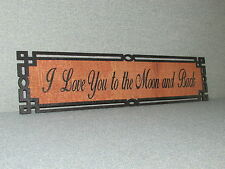 Rustic Style Wood Sign I Love You to the moon and back