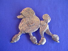 Poodle Trotting Pin #24A Pewter Non Sporting Dog Jewelry by Cindy A. Conter