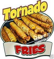 "Tornado Fries Decal 14"" Potato Chips Concession  Restaurant Food Truck Sticker"