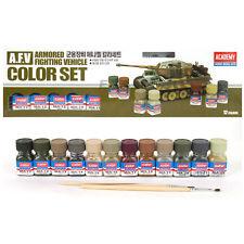 Academy A.F.V Enamel Painting 12 Color Set for Plastic Model Kits #15906