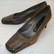 Peter Kaiser Womens Shoes Heels size 4 US 6.5 Brown Leather Slip-on Work 275