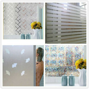 45*200cm PVC Frosted Home Window Film Door Privacy Bathroom Stickers Glass Films