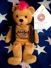 HRC Hard Rock Cafe Aruba Punk Bear Mohawk 2009 Pink Hair Herrington